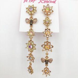 Betsey Johnson Bee Mine Linear Earrings